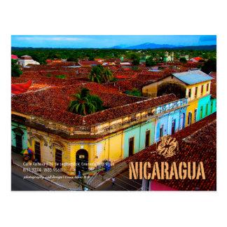 Calle Xalteva, Granada Nicaragua Postcard