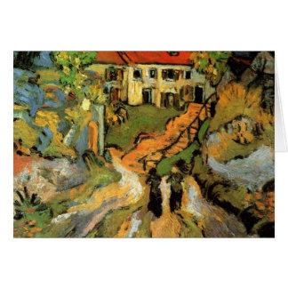 Calle y pasos del pueblo en Auvers - Van Gogh Tarjeta Pequeña