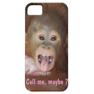 Calle yo pega quizá hacia fuera la lengua iPhone 5 Case-Mate cárcasas