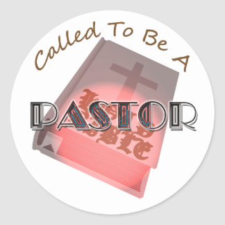 CALLED TO BE PASTOR CIR LT CLASSIC ROUND STICKER