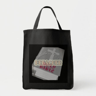 CALLED TO BE PREACHER CIR DK TOTE BAG