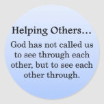 Called to Help Others Classic Round Sticker