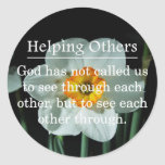 Called to Help Others Round Sticker
