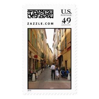 Callejón agradable del mercado sellos