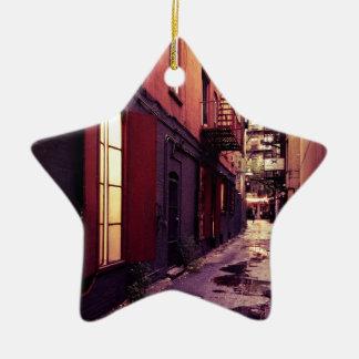 Callejón de Nueva York Ornamento De Navidad