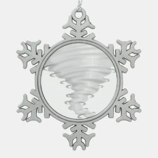 Callejón de tornado adorno de peltre en forma de copo de nieve