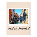 Callejón de Venecia con cita del amor Invitación 12,7 X 17,8 Cm