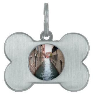 Callejón del agua de Venecia Placas De Nombre De Mascota