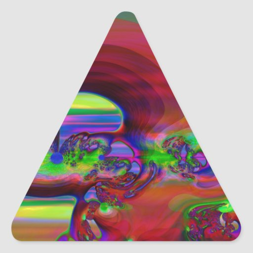 Callejón del huracán pegatinas de triangulo