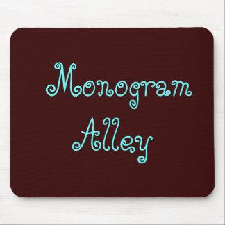 Callejón del monograma alfombrillas de raton