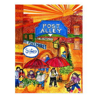 Callejón del poste tarjeta postal