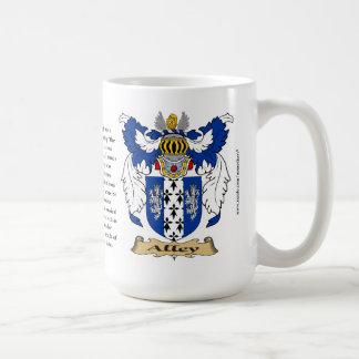 Callejón, el origen, el significado y el escudo taza de café