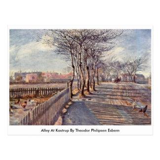 Callejón en Kastrup de Theodor Philipsen Esbern Postales