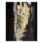 Callejón estrecho, Siena, Italia Póster