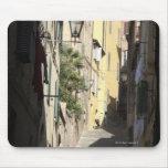 Callejón estrecho, Siena, Italia Tapetes De Ratones