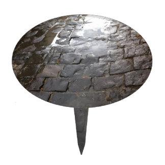 Callejón mojado -- Callejón de la piedra azul Palillos De Tarta