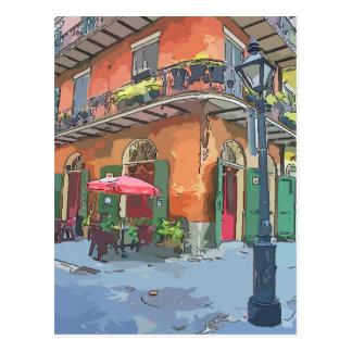 Callejón New Orleans de los piratas Postal