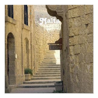 """Callejones de Malta Invitación 5.25"""" X 5.25"""""""