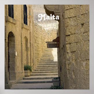Callejones de Malta Póster