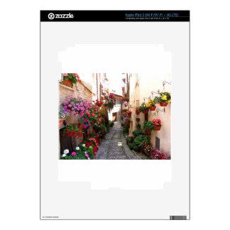 Callejones de Windows, del balcón y de la flor Pegatinas Skins Para iPad 3