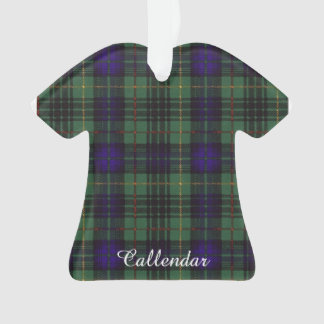 Callendar clan Plaid Scottish kilt tartan Ornament
