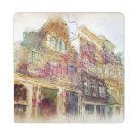 Calles de Amsterdam vieja Posavasos De Puzzle