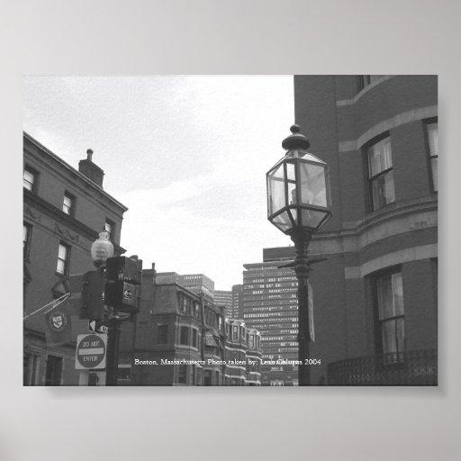 Calles de Boston Póster
