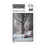 Calles de Chicago en sellos de un día de invierno