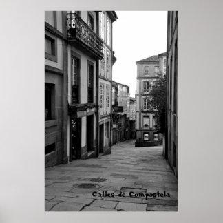 Calles de Compostela Posters