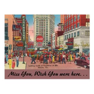 Calles de Georgia, de Peachtree y de Ellis, Postales