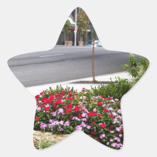 calles de la ciudad pegatina en forma de estrella