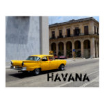 Calles de La Habana Cuba del coche que cruzan Postales