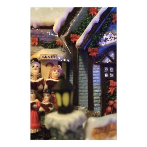 Calles de la obra clásica del navidad papeleria de diseño