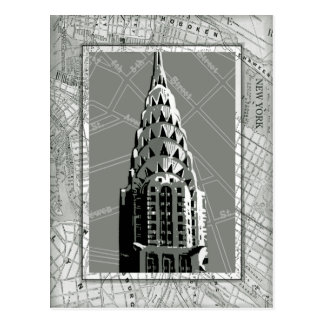 Calles de Nueva York con Empire State Building Postal