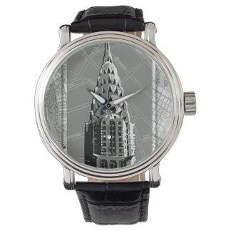 Calles de Nueva York con Empire State Building Relojes De Pulsera