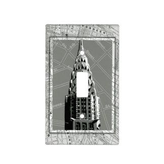 Calles de Nueva York con Empire State Building Tapas Para Interruptores