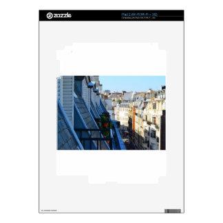 Calles de París Francia de un top del tejado Calcomanías Para iPad 2