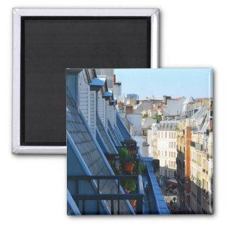 Calles de París Francia de un top del tejado Imán Cuadrado