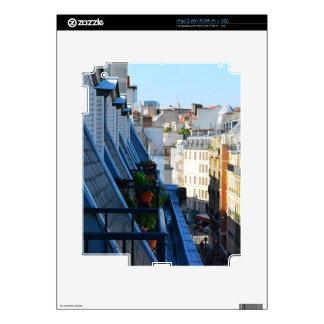 Calles de París Francia de un top del tejado iPad 2 Calcomanías