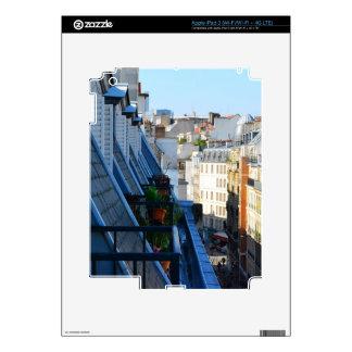Calles de París Francia de un top del tejado iPad 3 Pegatinas Skins