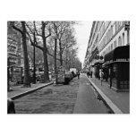 Calles de París Postal