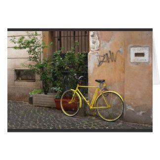 Calles de Roma (espacio en blanco) Tarjeta Pequeña