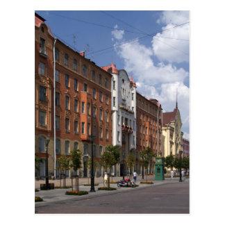 calles de St Petersburg, Rusia Tarjeta Postal