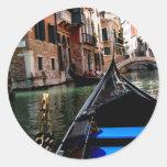 Calles de Venecia Etiqueta Redonda