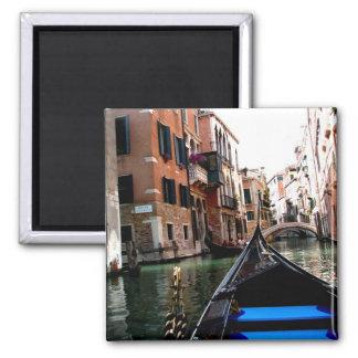 Calles de Venecia Imán Cuadrado