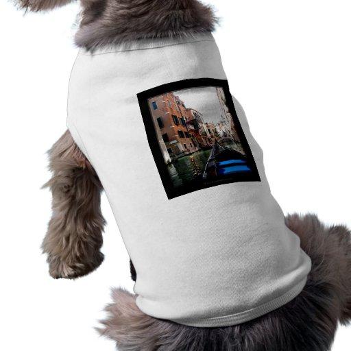 Calles de Venecia Playera Sin Mangas Para Perro