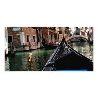 Calles de Venecia Tarjetas Fotográficas Personalizadas