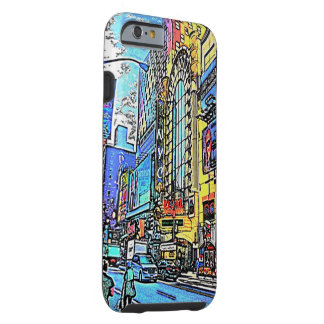 Calles del caso del iPhone 6 de New York City Funda De iPhone 6 Tough