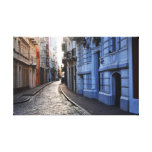 Calles del color de San Juan viejo Impresión En Tela