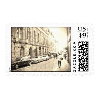 Calles del vintage timbre postal